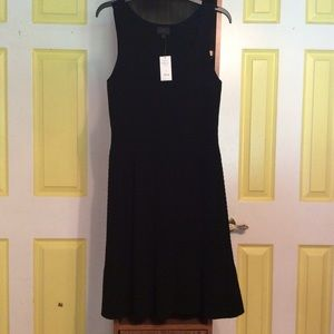 Banana Republic Solid Black Stretch Knit S Dress 1